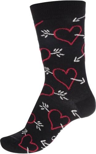 8dc608d28d8 Černé dámské ponožky se srdíčky Happy Socks Arrow   Heart - Glami.cz
