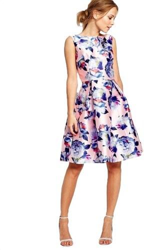 ad05c65fd2a CHI CHI LONDON Saténové šaty s floral potiskem - Glami.cz