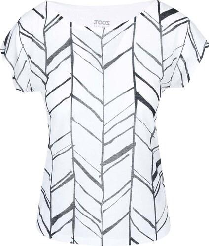 Černo-bílé dámské tričko s potiskem ZOOT Originál Trojúhelníky ... 26f844ee6f
