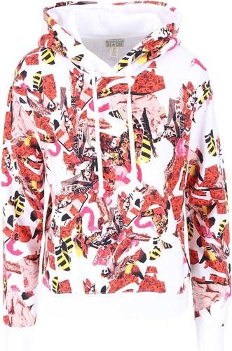 Červeno-bílá dámská vzorovaná mikina Converse - Glami.cz 68b200547e3