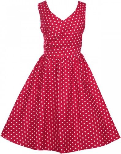 ce7806b7abf DOLLY AND DOTTY Dámské retro šaty May červené s bílými puntíky ...