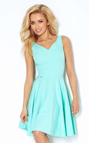 526309ea0a8 numoco Společenské šaty luxusní s kolovou sukní středně dlouhé mint ...