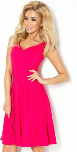 numoco Společenské šaty luxusní s kolovou sukní středně dlouhé malinové c6543b0cbc