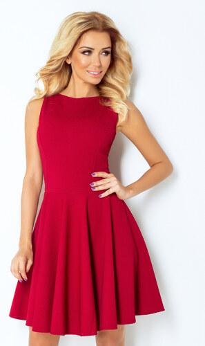 32da673e444 numoco Společenské a plesové exkluzivní šaty s kolovou sukní krátké bordó