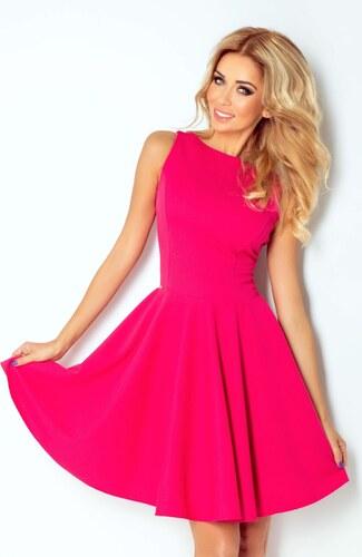 numoco Společenské a plesové exkluzivní šaty s kolovou sukní krátké malinové ecc5072673
