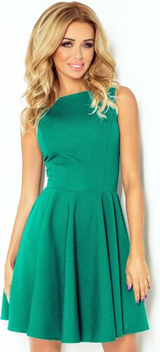 numoco Společenské a plesové exkluzivní šaty s kolovou sukní krátké zelené fe25399c864