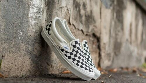 Vans OG Classic Slip On LX (Canvas) Black  White Checkerboard - Glami.sk 9ec26c13597