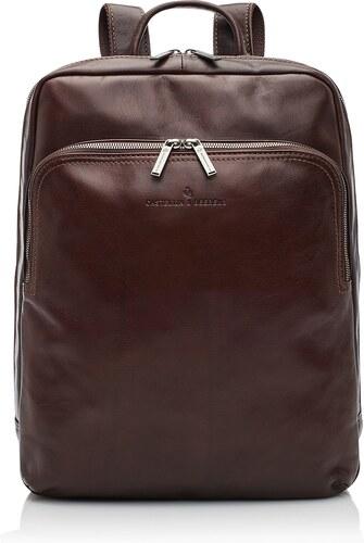 c18d537a615 Castelijn   Beerens Elegantní kožený batoh na notebook 609576 hnědý ...