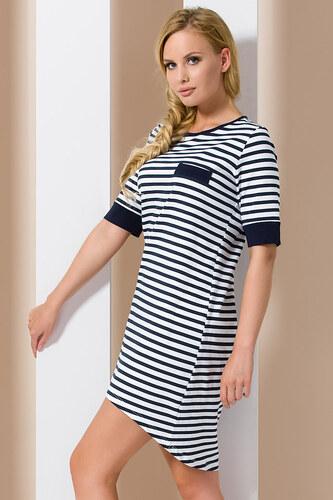 293dee89338f Passion Modro-biela nočná košeľa PY076 - Glami.sk