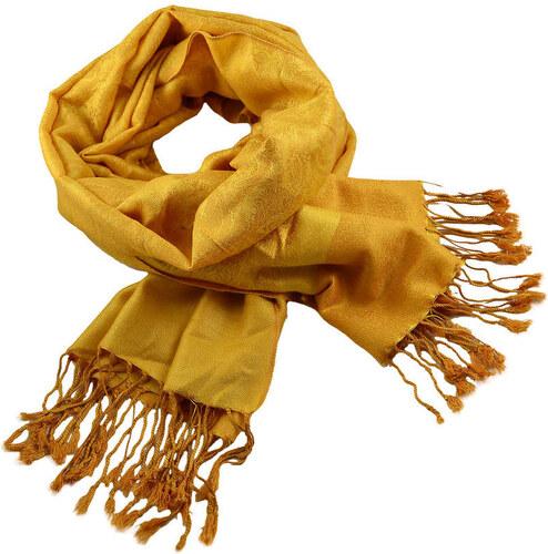 Šála teplá 69cz001-13 - žlutá jednobarevná - Glami.cz a4ad77867c