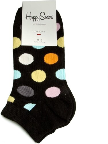 Dámské nízké ponožky HAPPY SOCKS - BDO5-099 Černá - Glami.cz db0d0791d3