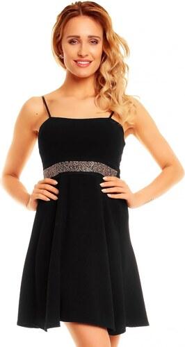accaf22d6920 Společenské značkové šaty LAND 00260 B korzetové se zdobením pod prsy krátké  černé