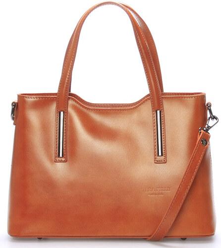 Menšie kožená kabelka svetlo hnedá - ItalY Alex hnedá - Glami.sk b852850bafb