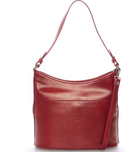 Červená kožená kabelka cez rameno ItalY Lydia červená - Glami.sk 3a97207830d