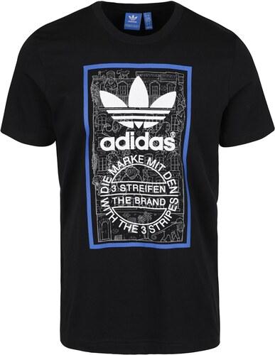 03ada8f62d69 Černé pánské triko adidas Originals Brick Tongue - Glami.cz