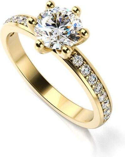 63f297e37 Eppi Zásnubný zlatý prsteň s diamantmi Zowin - Glami.sk