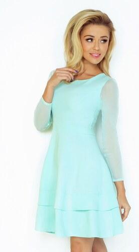 299b2493687f SAF dámské slavnostní šaty mentolové s tylovými rukávy Velikosti x ...