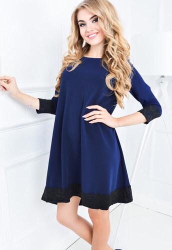 2de977e0952f Dámske modré šaty s 3 4 rukávom - 84459 odtiene farieb  modrá - Glami.sk