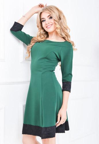 2f42ba9edb15 Dámske zelené šaty s 3 4 rukávom - 84462 odtiene farieb  zelená ...