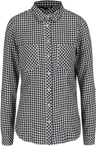 60c7b303f6da Čierno-biela kockovaná košeľa TALLY WEiJL - Glami.sk