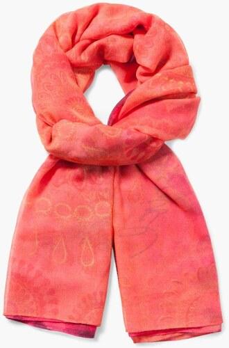 šátek Desigual Rectangle A rojo tierra - Glami.cz 023dc707a1