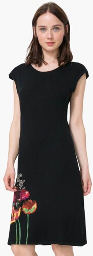 57e7c38de2 šaty Desigual Sara negro - Glami.sk