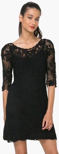 dc984f46fd šaty Desigual Sara 1 negro - Glami.cz