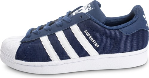 adidas Baskets/Tennis Superstar Nylon Junior Bleu Marine Enfant