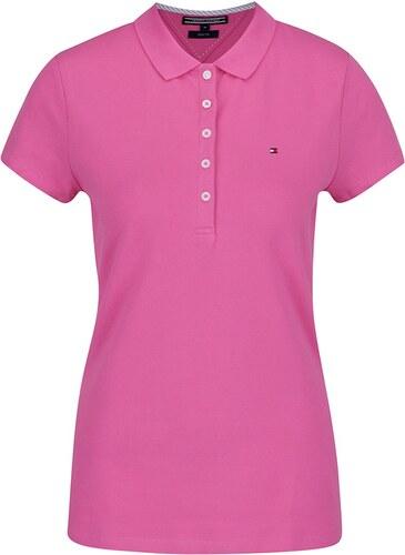 Ružová dámska polokošeľa Tommy Hilfiger - Glami.sk 29ddd6516a