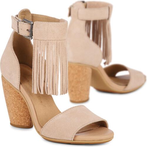 6ea4ac20b0 Emu Australia Emu béžové topánky na podpätku Nutbush Sand - Glami.sk