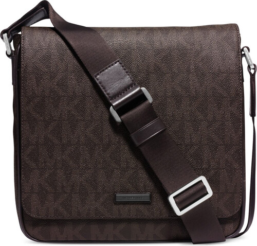 Pánský messenger Michael Kors Jet Set Medium Flap Messenger Brown ... d194c9b868c