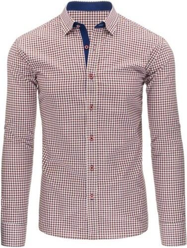 Manstyle Pánská stylová košile modrá s dlouhým rukávemslim fit ... aab86ee477