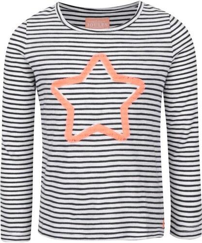 a8ff7c55fde4 Čierno-krémové dievčenské tričko s motívom hviezdy Tom Joule - Glami.sk