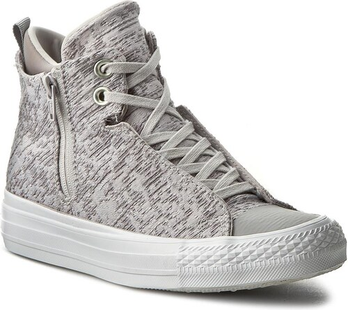 -40% Plátěnky CONVERSE - Ctas Selene Winter Knit Mid 553356C Mouse  Dolphin White 43256dad3