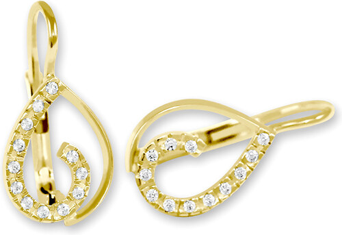 Brilio Zlaté náušnice s kryštálmi 239 001 00610 - 1 4953dc65271