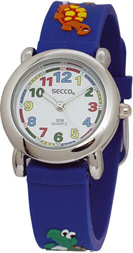 Secco Chlapecké hodinky se zvířátky - modré - Glami.cz 066c8a033b8
