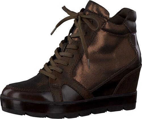 7ecbfd5f7483 Tamaris Elegantná dámska zimná obuv 1-1-25224-27 930 Bronce Comb ...