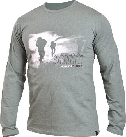 ebf7e1b9fba6 Northfinder Pánske tričko s dlhým rukávom Durang Green Melange TR3188OR-317