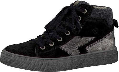 b7e6a48388a6 Tamaris Elegantne dámske zimné členkové topánky 1-1-26240-27 Black Comb