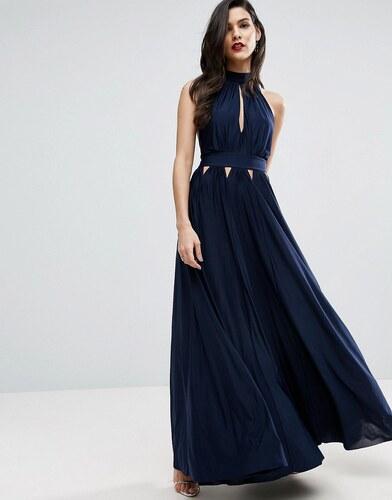 Robe de soiree bleu marine asos