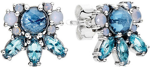 Pandora Náušnice s modrými krystaly 290731NMBMX - Glami.cz 2dbb409f84c