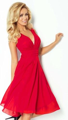 0384f235a0d5 numoco Luxusní dámské společenské a plesové šifonové šaty KARA tm. malinové