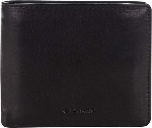 ee0a251e7c Čierna pánska kožená peňaženka GANT - Glami.sk