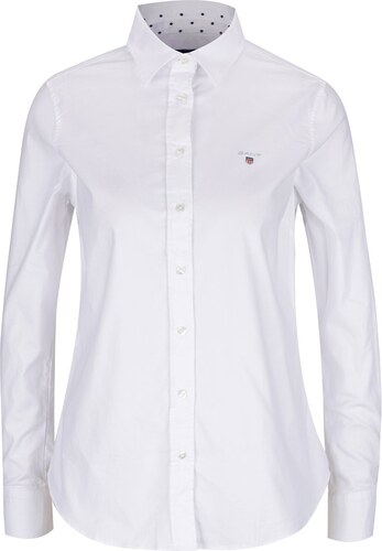1413c8f8e6c8 Biela dámska košeľa GANT Oxford - Glami.sk
