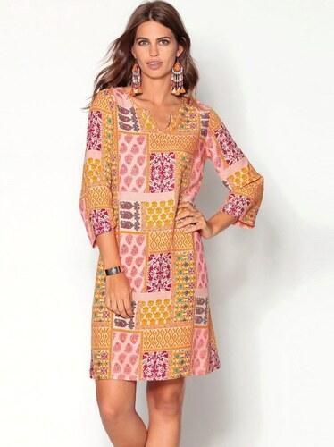 Venca Tunikové šaty s patchwork motivem potisk - Glami.cz 5ca4297a3e