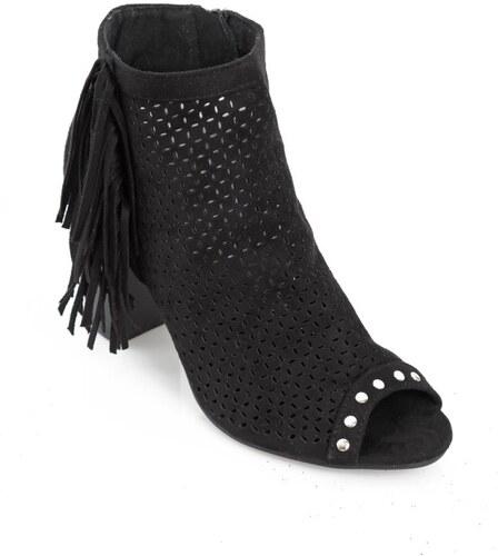 dbf60b9e5de2 VENCA Členkové topánky s otvorenou špičkou čierna - Glami.sk