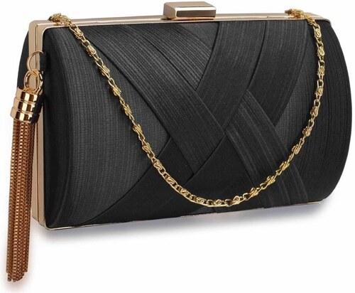 Luxusná dámska čierna spoločenská kabelka - Glami.sk a5ca8cd3d0a