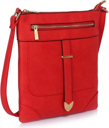 Jedinečná dámska kabelka crossbody červená - Glami.sk 80a03f92770