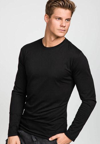 Černé pánské tričko s dlouhým rukávem bez potisku Bolf 135 - Glami.cz 1b6fdd81c0