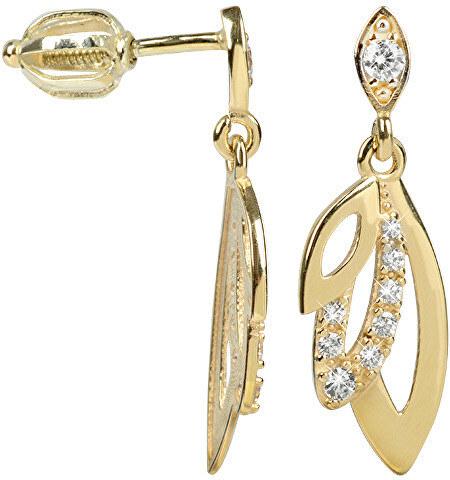 156d62b68 Brilio Zlaté náušnice s čírymi kryštálmi 239 001 00805 - 2,00 g ...